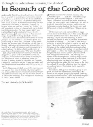 Reisebericht RF5B 1981-03 Soaring
