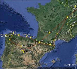 Ist Route Spanien 2015
